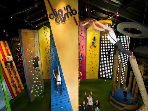 The adventure attraction includes 23 colourful climbing modules