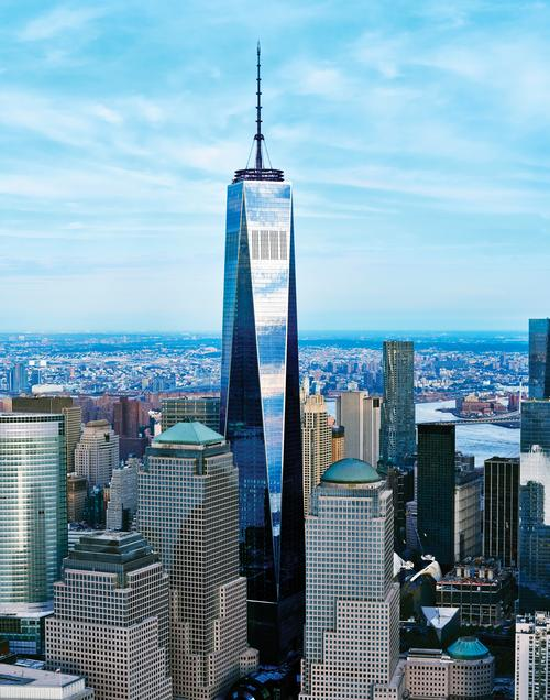 The tower, designed by Skidmore, Owings and Merrill (SOM), cost US$3.9bn (€3.6bn, £2.6bn) to develop / One World Trade Center