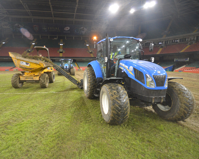 New Holland machines used to help upgrade Millennium Stadium surface