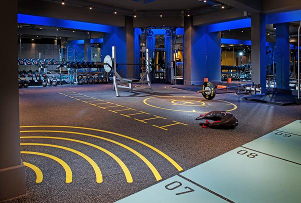 The dynamic club floor forms part of the workout