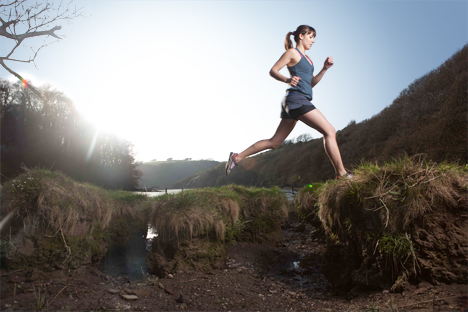Most barefoot runners use minimal shoes, which are flat and provide only a small amount of cushioning