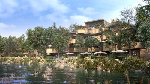 French Prime Minister breaks ground on Euro Disney's 'organic city' resort