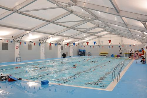 Bridlington gets first temporary pool facilities from Olympic legacy project