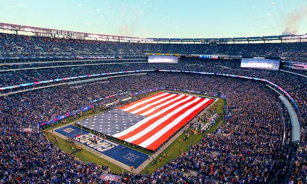 New Jersey's MetLife Stadium is made of an outer skin of aluminium louvers and glass / PHOTO: Brad Penner/AP/Press Association