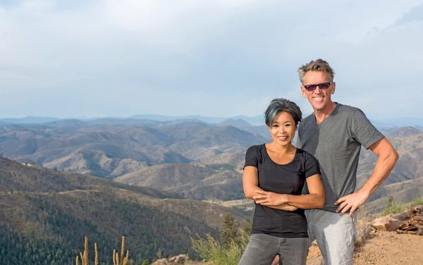 Adria Lake and her partner Marc Gerritsen, photographed at their home in Colorado for Well Home. September 2018