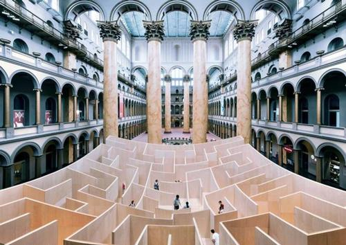 The maze is in the museum's great West Court / National Building Museum