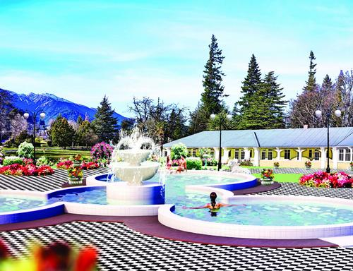 An artist's concept of what the Chisholm Spa might look like / Hanmer Springs