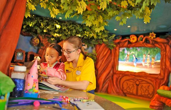 Onboard environments relate to Disney characters, films and themes – such as Pixie Hollow