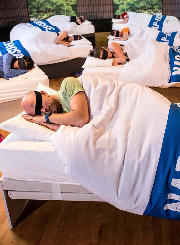 DLL's Nappercise class is designed to recharge body and mind in 45 minutes