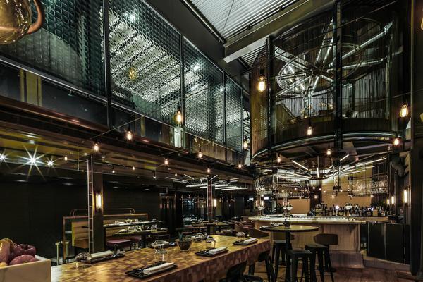 A circular tapas bar dominates Isono's main dining room