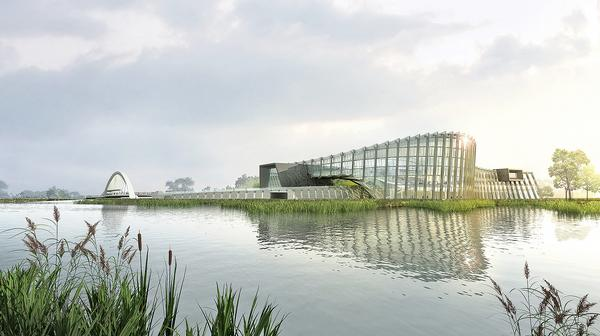 The exterior form of NPM Southern Branch is inspired by the elephant, dragon and horse