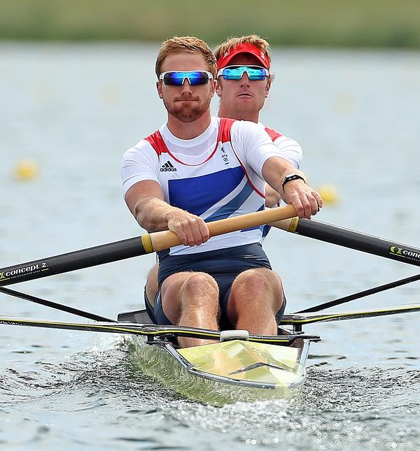 GB rowers Will Satch and George Nash put their training to use in London 2012 / PA Images