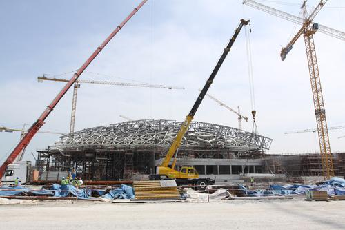 louvre abu dhabi project hits construction milestone news. Black Bedroom Furniture Sets. Home Design Ideas