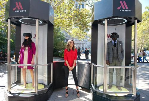 Marriott virtual reality 'Teleporter' takes travellers on whistle-stop world tour