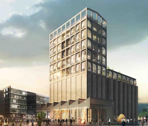 The Silo hotel will be located above Zeitz MOCAA in the Grain Silo Complex / The Royal Portfolio