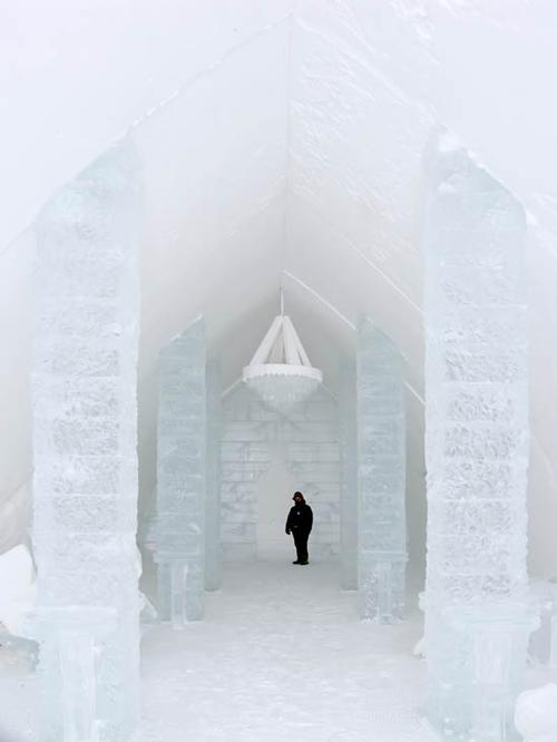 Sweden's Icehotel is made from 5,000 tonnes of harvested ice / Shutterstock