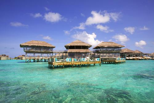 The luxury resort was the first to open on the Laamu atoll in the south of the Maldives