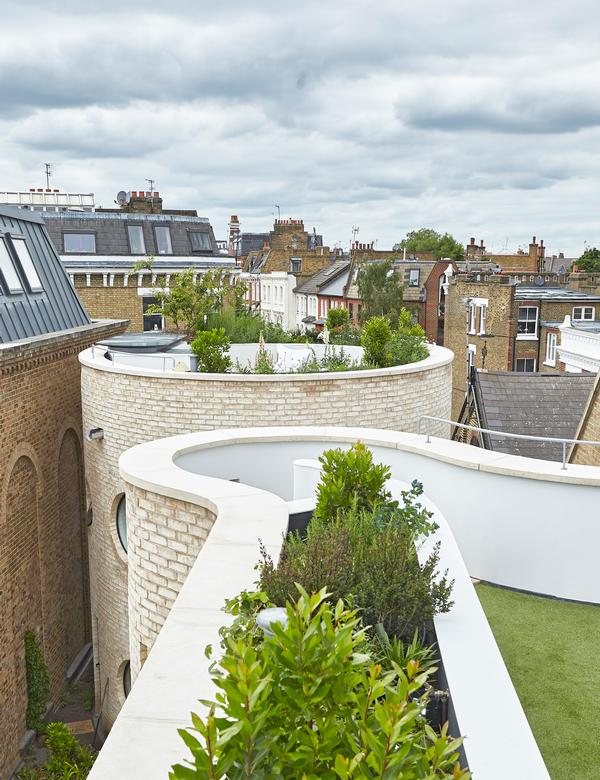 The house was built on the site of an old garage in a residential area of west London