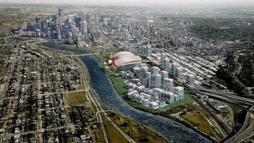 CalgaryNEXT will be located on the banks of Bow River