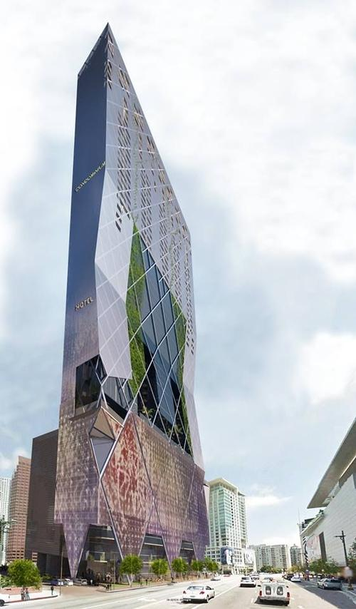 The 60-storey structure would feature an open-air atrium and vertical gardens / Nardi Associates
