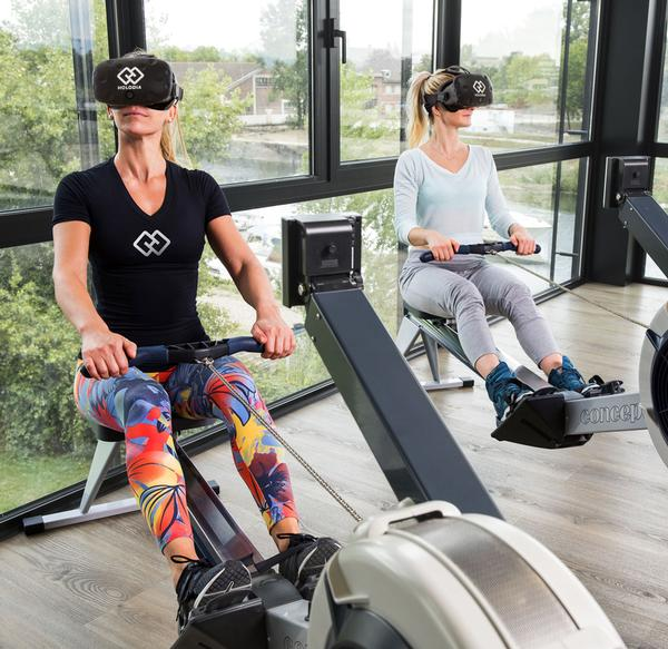 Holofit can be used with a variety of cardio machines