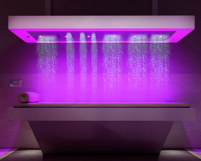 Spastream shower offers expert water massage
