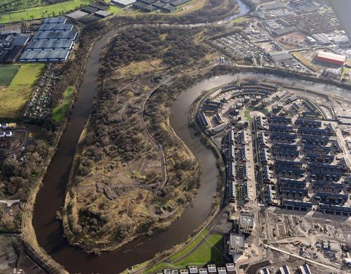 The east end of the city has been transformed by the building of the Glasgow 2014 athletes' village – located on the banks of the River Clyde