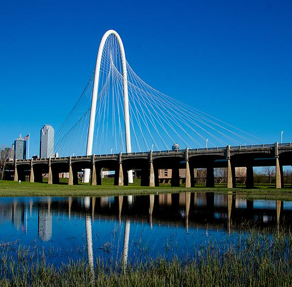 The Margaret Hunt Hill Bridge opened in 2012