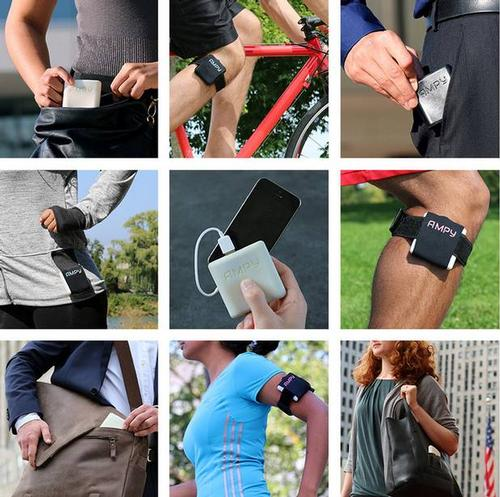 AMPY allows you to charge your phone on the run