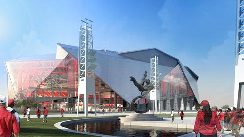 The gardens will be located outside the stadium, adjacent to the fan zone