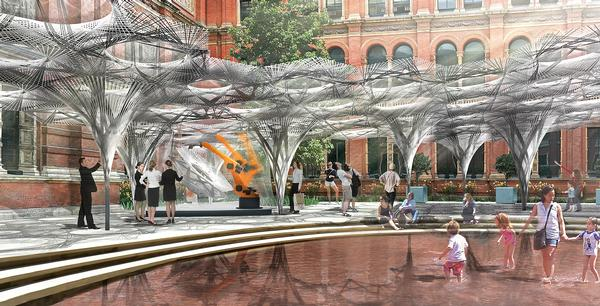 Robot technology is used to create a special installation at the V&A museum in London