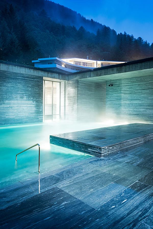 The Peter Zumthor-designed Therme Vals spa resort opened in 1996 / Global Image Creation
