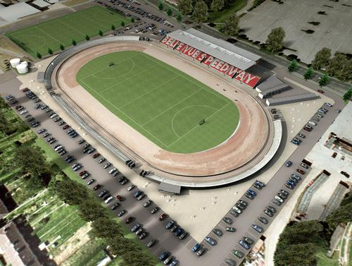 An aerial view of the planned Belle Vue Sports Village