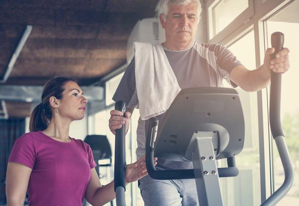 Seniors may need medical clearance before starting a an exercise programme / shutterstock