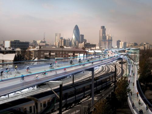 The proposed 135-mile network of routes would take 20 years to build / Foster + Partners