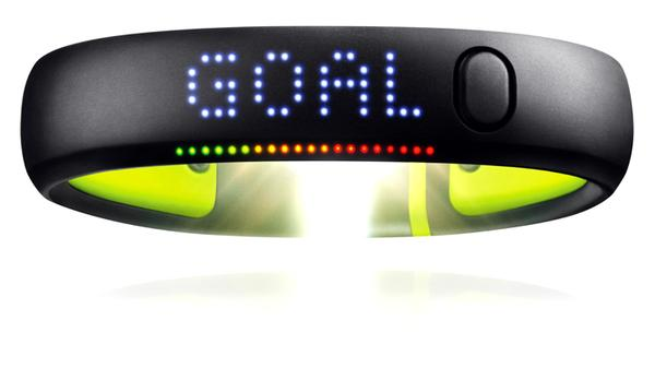 The FuelBand makes it easy for users to set and monitor a daily goal
