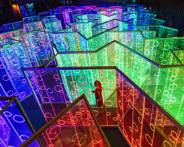 Brut Deluxe creates rainbow-filled infinity maze for Chinese art festival