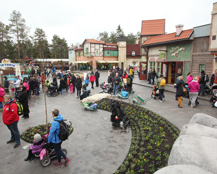 Opening day at the themed area in Sweden's Kolmården Wildlife Park