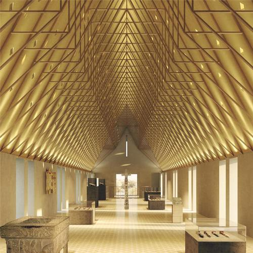 An artist's impression of the new Scotland Wing at Auckland Castle / Pictureplane and Niall McLaughlin Architects