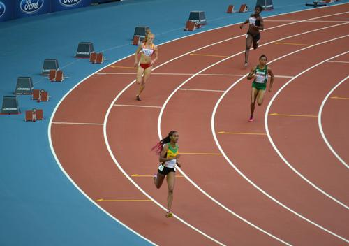 The track in use during the Glasgow 2014 Commonwealth Games / Flickr