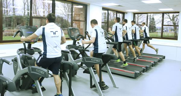The Williams pit crew use the gym to stay fit for their demanding role