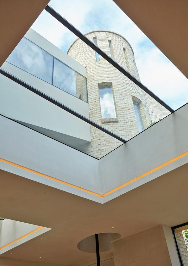 Maximising light with skylights and large windows was key, says Michaelis.