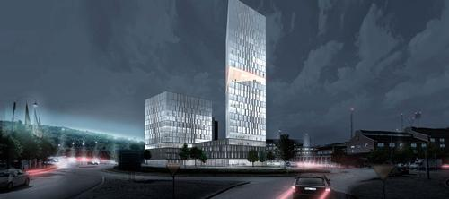 At 30 storeys high, the larger tower will become a striking feature in the city skyline / Henning Larsen Architects