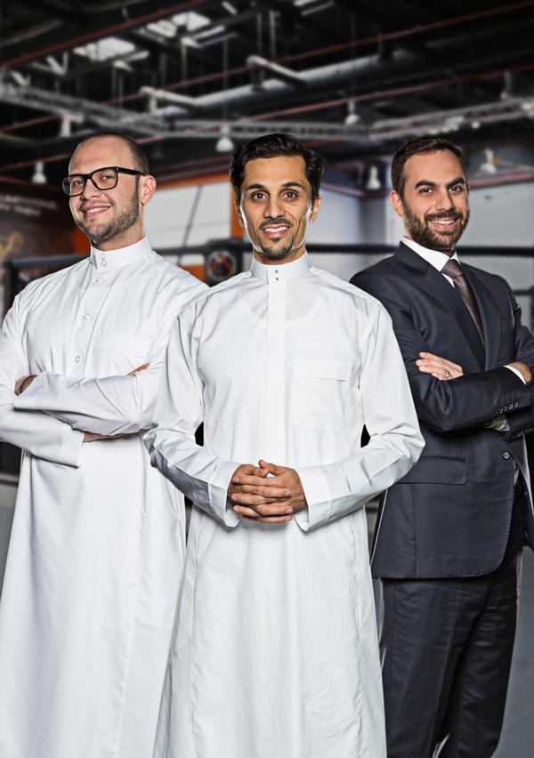 The Arena Group management team: (left to right) Anas Orfali, Mohammed Fayez and Hussein Madi