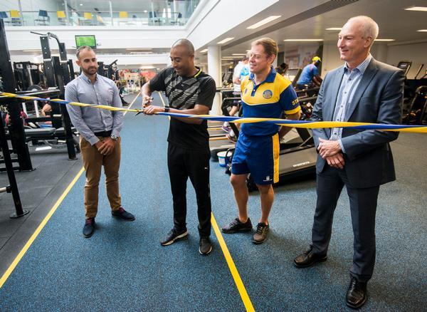 Athlete and alumnus Colin Jackson CBE opened the new facility