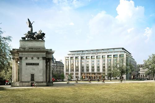 The new hotel would replace the existing 1960s offices at the site / Peninsula Hotels