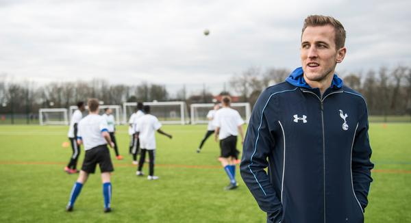 Spurs and England star Harry Kane attended the opening of the pitch at his old club