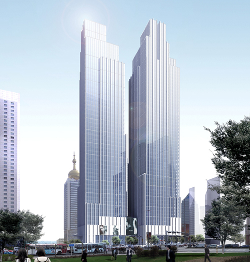 The hotel will be one of the tallest buildings in all of Qingdao