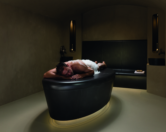 The Hammam oval is designed to foster a sense of deep relaxation