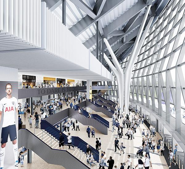 Tottenham Hotspur's new ground is being built in North London